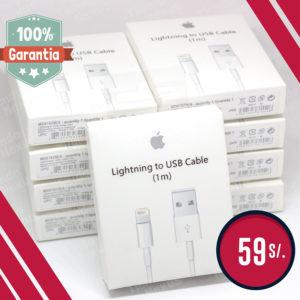 CABLE USB LIGHTNING APPLE ORIGINAL CERTIFICADO MFI APPLE PARA IPHONE 7, IPHONE 7PLUS, IPHONE 6S, IPHONE 6S PLUS, IPHONE 6, IPHONE 6 PLUS, IPHONE 5S, IPHONE 5, IPHONE SE IPOD, IPAD MINI, IPAD AIR
