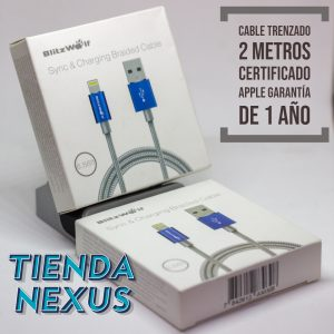 cable usb 2 metros iphone